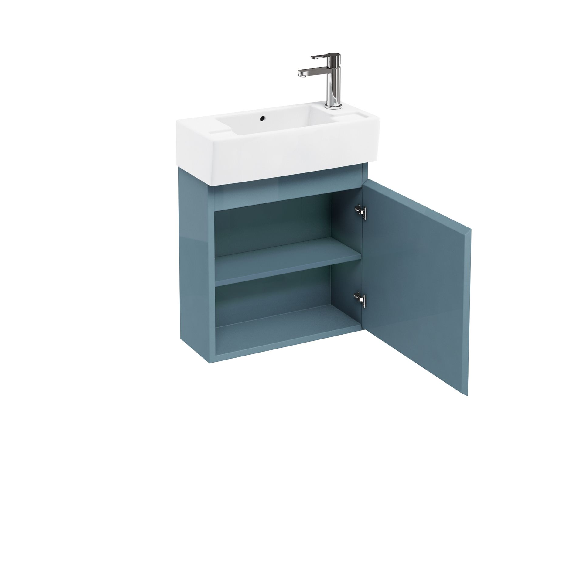 Aqua Compact 250 wall hung unit and cloakroom basin ocean Brighter ...
