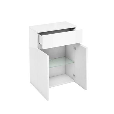 Picture of Aqua D300 drawer and double door unit White