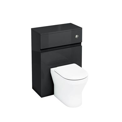 Picture of Aqua D300 Back to Wall WC with Push Button - Black