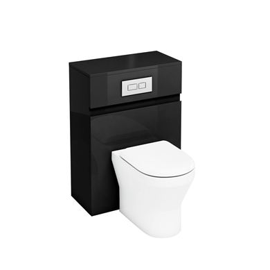 Picture of Aqua D300 back to wall WC unit with flush plate - Black
