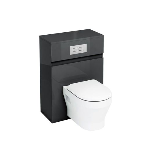 Picture of Aqua D300 wall hung WC unit with flush plate - Black