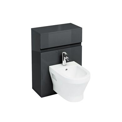 Picture of Britton Black D300 wall hung bidet unit