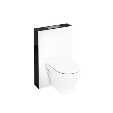 Picture of Aqua Tablet wall hung WC unit with flush plate - Black