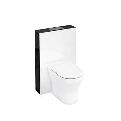 Picture of Aqua Tablet back to wall WC unit with flush plate - Black