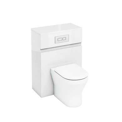 Picture of Britton 600mm Back to Wall WC Cabinet White Gloss