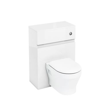Picture of Britton 600mm Wall Hung Cabinet White Gloss