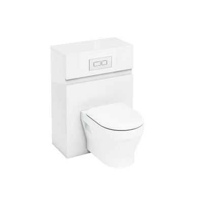 Picture of Britton 600mm Wall Hung WC Cabinet White Gloss