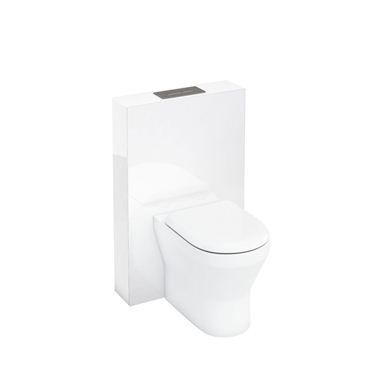 Picture of Aqua Tablet back to wall WC unit with flush plate - White