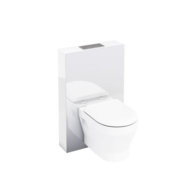 Picture of Aqua Tablet wall hung WC unit with flush plate - White
