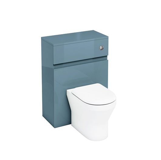Picture of Aqua D300 back to wall WC unit with push button - Ocean