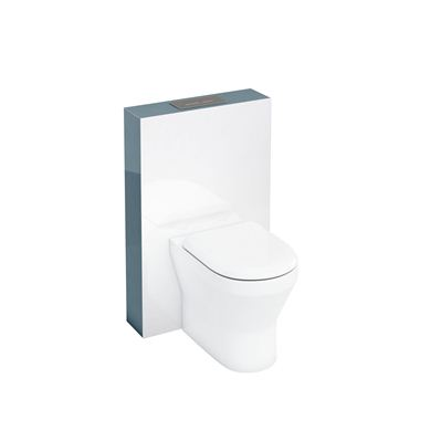 Picture of Aqua Tablet back to wall WC unit with flush plate - Ocean