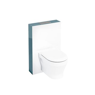 Picture of Aqua Tablet wall hung WC unit with flush plate - Ocean