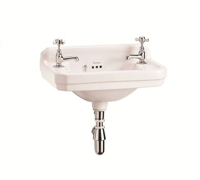 Picture of Burlington Edwardian 51cm Cloakroom Basin - 2 Tap Holes