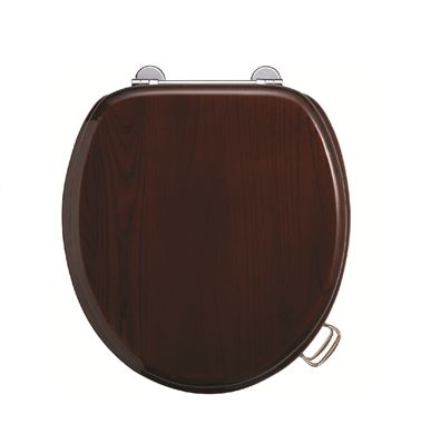 Picture of Burlington Standard Wooden Mahogany Toilet Seat