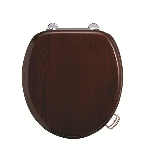Picture of Burlington Standard Wooden Mahogany Toilet Seat