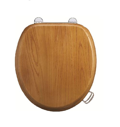 Picture of Burlington Standard Wooden Oak Toilet Seat