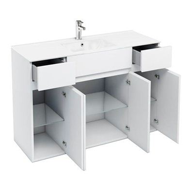 Picture of Aqua D450 1200mm Units with Ceramic Basin - White