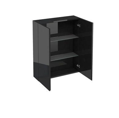Picture of Aqua 600 double door wall cabinet Black