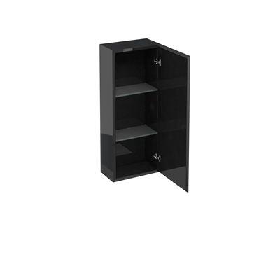 Picture of Aqua 300 single mirrored door wall cabinet Black