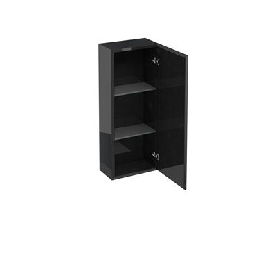 Picture of Britton Aqua Cabinets 300mm Single Wall Mounted Bathroom Cupboard Unit Black