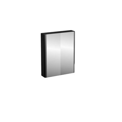 Picture of Compact 60cm double mirrored door wall cabinet Black