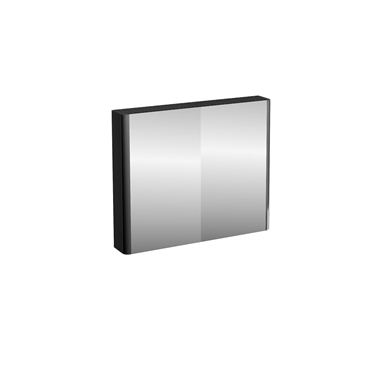Picture of Compact 90cm double mirrored door wall cabinet Black