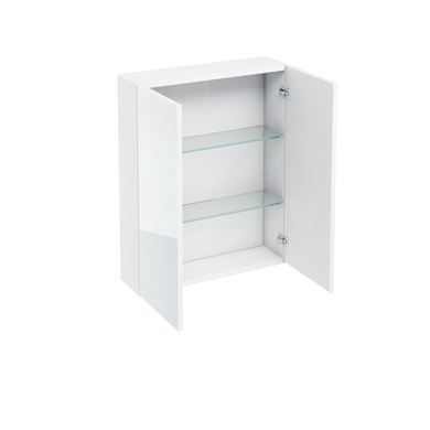 Picture of Britton 600mm Mirrored Wall Cabinet White Gloss
