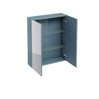 Picture of Aqua 600 double mirrored door wall cabinet Ocean