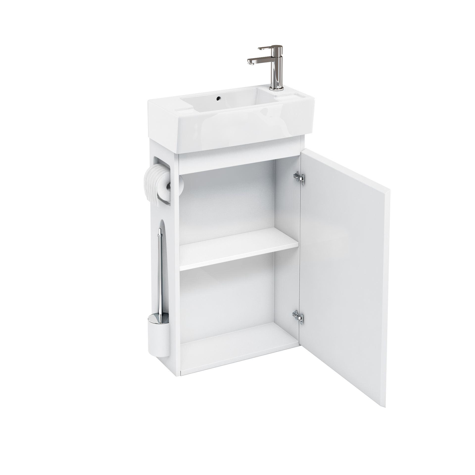 aqua all in one floor standing unit and cloakroom basin. Black Bedroom Furniture Sets. Home Design Ideas