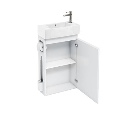Picture of Aqua All-in-One floor standing unit and cloakroom basin white