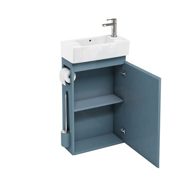 Picture of Aqua All-in-One floor standing unit and cloakroom basin ocean