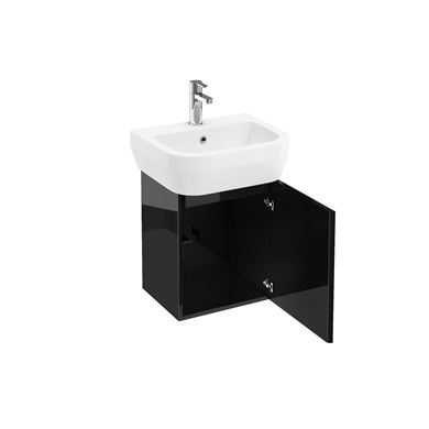 Picture of AquaCUBE wall hung unit 500 basin black