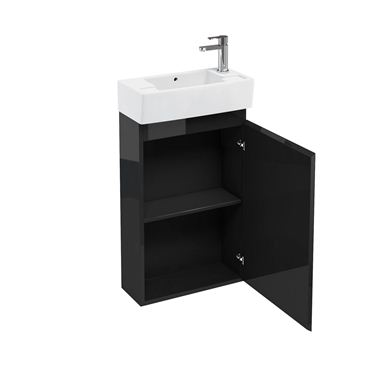 Picture of Aqua Compact 250 floor standing unit and cloakroom basin black