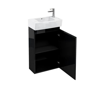 Picture of Aqua Compact 305 floor standing unit and cloakroom basin black