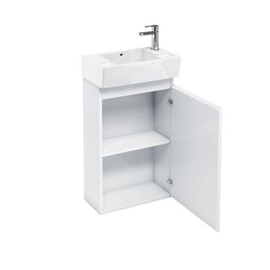 Picture of Aqua Compact 305 floor standing unit and cloakroom basin white