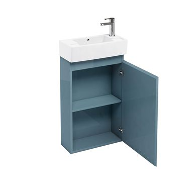 Picture of Aqua Compact 250 floor standing unit and cloakroom basin ocean