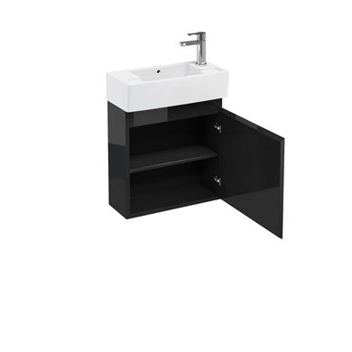 Picture of Aqua Compact 250 wall hung unit and cloakroom basin black