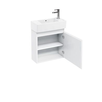 Picture of Aqua Compact 250 wall hung unit and cloakroom basin white