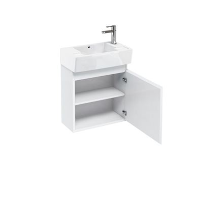 Picture of Aqua Compact 305 wall hung unit and cloakroom basin white