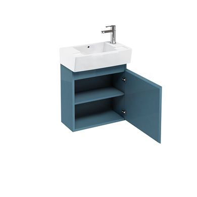 Picture of Aqua Compact 305 wall hung unit and cloakroom basin ocean