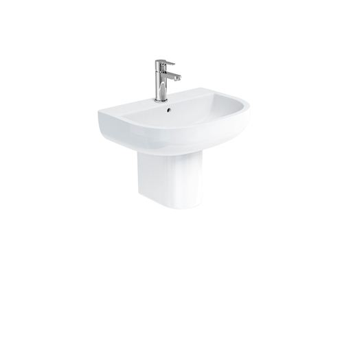 Picture of Britton Compact 55cm Basin & Rounded Fronted Semi Pedestal