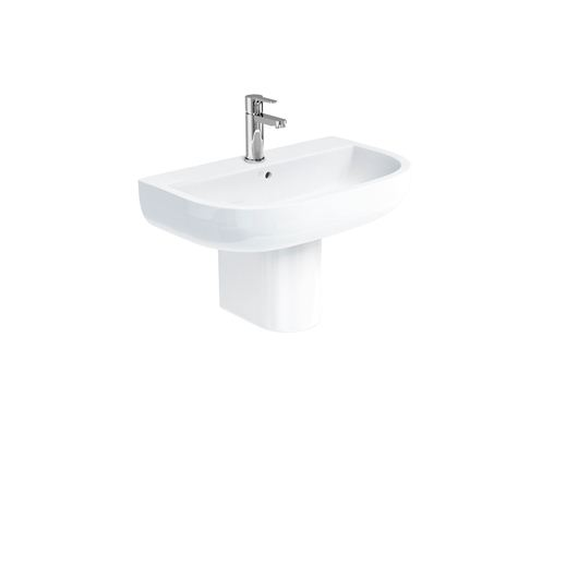 Picture of Britton Compact 650 basin and round fronted semi pedestal