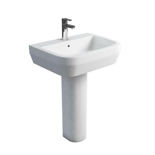 Picture of Britton Curve S30 600 basin and round fronted pedestal