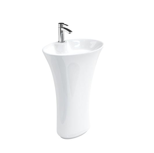 Picture of Britton Curve Freestanding Basin & Pedestal Including Waste