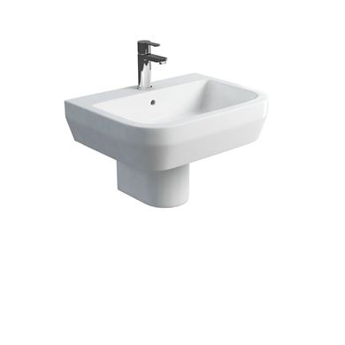 Picture of Britton Curve S30 600 basin and round fronted semi pedestal