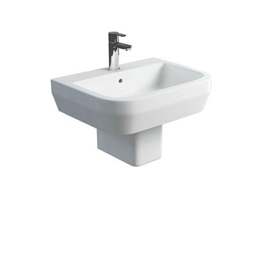 Picture of Britton Curve S30 600 basin and square fronted semi pedestal