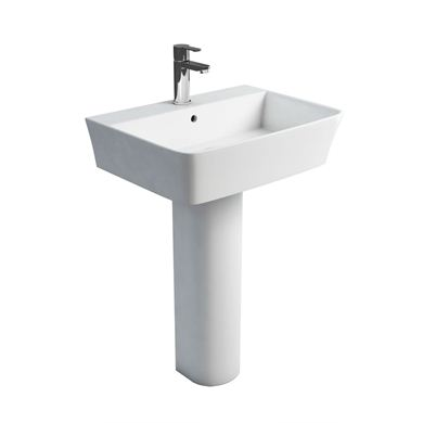Picture of Britton Fine S40 600 basin and round fronted pedestal