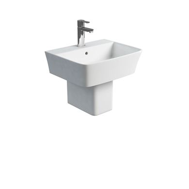 Picture of Britton Fine S40 500 basin and square fronted semi pedestal