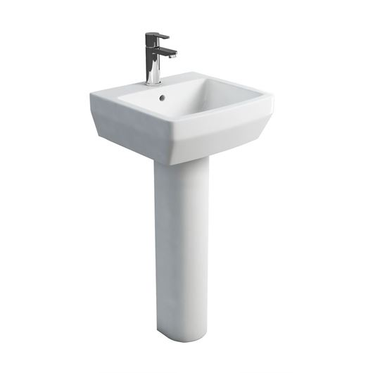 Picture of Britton Cube 500mm Basin & Tall Pedestal
