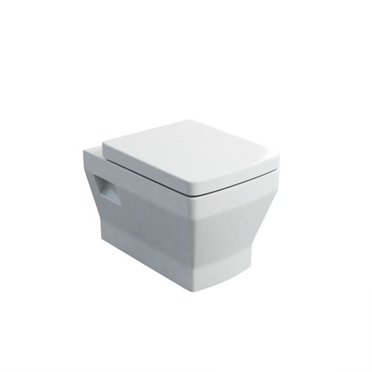 Picture of Britton Cube S20 wall hung pan with soft close seat
